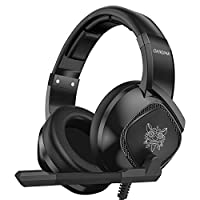 ‏‪Docooler K19 3.5mm Wired Gaming Headset Over Ear Headphones Noise Canceling E-Sport Earphone with Mic LED Lights Volume Control Mute Mic for PC Laptop PS4 Smart Phone‬‏