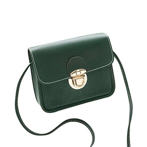 BZLine® Frauen Crossbody Tasche Umhängetasche Tasche Münze Tasche Grün
