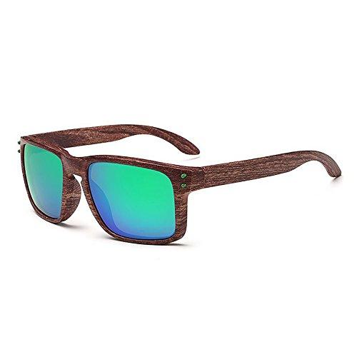 TIANLIANG04 Sonnenbrille Frauen Frame in Acetat Sonnenbrille Beschichtung flache Linse UV400, C02 blau