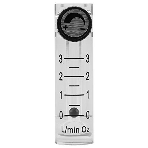 Gas-Durchflussmesser, LZQ-2 Durchflussmesser 0-3LPM Durchflussmesser mit Regelventil für Sauerstoff/Luft/Gas