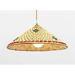 Luces De Sombrero De Paja Chino. Lámpara de Bambú