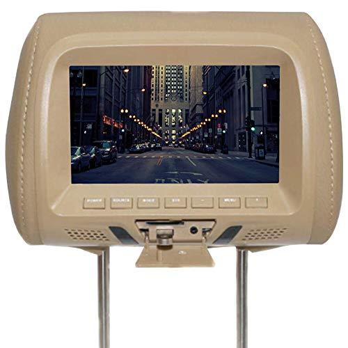 SADA72 Kopfstützenmonitor, 7 Zoll HD Digital Auto Kopfstütze LED-Bildschirm Video für Kinder Built In Lautsprecher Auto Universal Kopfstützenmonitor
