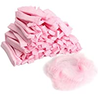 prettygood7 Einweg-Duschhaube, Nicht Gewebt, Faltenschutz, Pink, 100 Stück