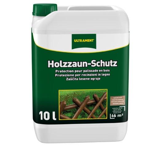 Ultrament Holzzaun-Schutz, naturbaun, 10l