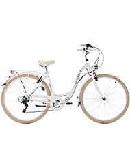 KS Cycling Damen Damenfahrrad Cityrad Casino 6 Gänge Fahrrad, Weiß, 28
