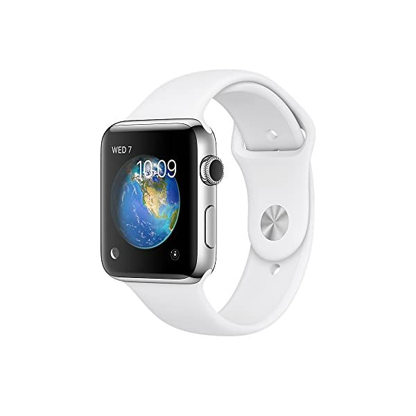 Apple Series 2 Stainless Steel Case Smartwatch With Sport Band