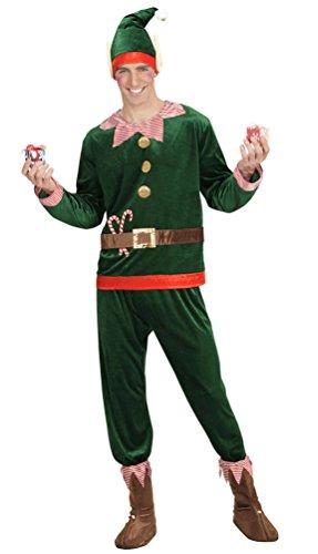 Karneval-Klamotten Weihnachtself Weihnachtswichtel Weihnachtshelfer Kostüm Herren Weihnachtselfen Herren-Kostüm -