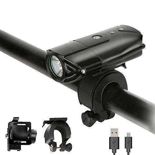 LED Fahrradbeleuchtung vorne und hinten, TaoTronics USB wiederaufladbare Fahrrad Licht Set, 2000 mAh super helle Fahrradbeleuchtung, Fahrrad-Scheinwerfer, IP65 wasserdicht kostenlose Rüc