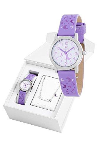Uhr Flut Mädchen b35284/3und Vergissmeinnicht Sterling-Silber