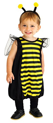 Bee Kostüm Kleinkind - DEMU Baby Kleinkind Bienen-Kostüm Biene Bienchen für Fasching Karneval Fasnacht Faschingskostüme M(110-120)