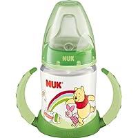 NUK 10215093 First Choice Trinklern-Flasche Disney Winnie aus PP 150 ml, mit Soft-Trinktülle aus Silikon ab 6 Monate, auslaufsicher, BPA frei, grün
