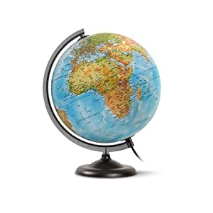 jpc globe terrestre lumineux 30 cm first en relief bleu fournitures de bureau. Black Bedroom Furniture Sets. Home Design Ideas