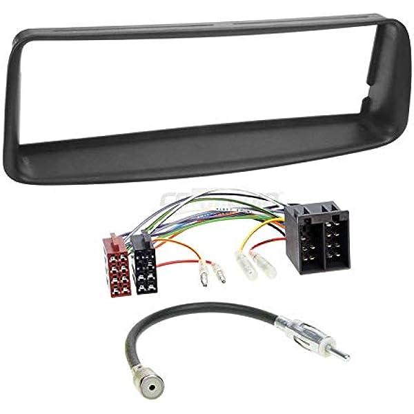 Carmedio Peugeot 206 98 07 1 Din Autoradio Einbauset In Original Plug Play Qualität Mit Antennenadapter Radioanschlusskabel Zubehör Und Radioblende Einbaurahmen Schwarz Navigation