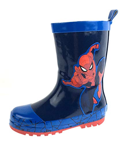 Marvel Spiderman Boys Rubber Wellington Boots