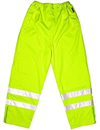 Proforce Breathable Flex Yellow High Visibility Hi-Viz Waterproof Trousers Pants