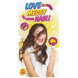 Serviette de bain Drap de plage Disney Soy Luna Love Messy hair en microfibre 70 X 140 cm