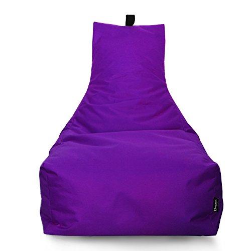 BuBiBag Sitzsack Lounge Sitzsack Sitzkissen XXL Tobekissen Bodenkissen Beanbag Kissen, für Kinder und Erwachsene (Lila)