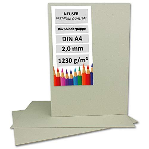 Libro Binder Pappe DIN A4| Spessore 2,0mm | Peso: 1230G/M² | Dimensioni: 29,7x 21,0cm | Colore: grigio/marrone