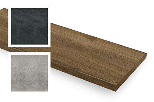 empasa Fensterinnenbank Fensterbank Design-Fensterbank INNEN inkl. Kantenschutz MDF Dark Oak, Ausladung (Width Range) 150-400 mm, Länge (Length Range) 250-2000 mm