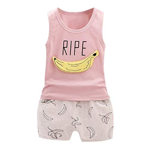 QinMM niños Bebes Animados Pato Camiseta + Pantalones