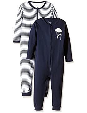 NAME IT Baby-Jungen Schlafstrampler Nitnightsuit Zip M B Noos, 2er Pack