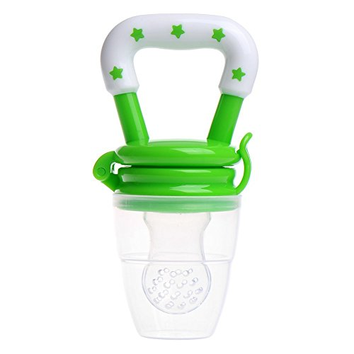 Q4U New Baby Dummy Pacifier Fresh Food/Fruit Feeder Feeding Nipple Weaning Teething Nipple Teat Pacifier Teether Soother (S, Green)