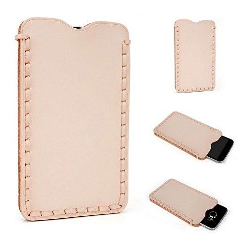 Kroo Étui ultra fin en cuir véritable pour téléphone portable Samsung Galaxy S3Neo/S4 Marron - peau Marron - peau