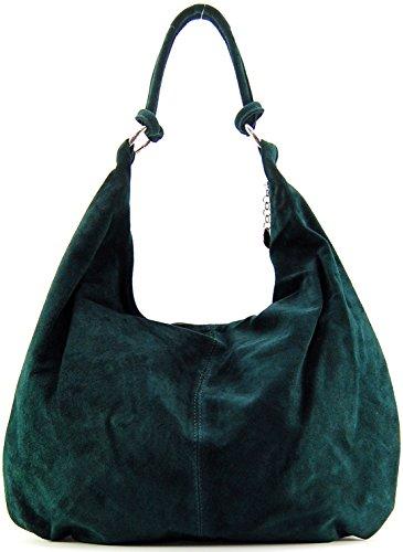 Borsa pelle donna a spalla e a mano -Modello love - 48 x 38 x 14 cm (L x L x A) - Bestseller Estate 2015 Verde scuro
