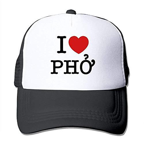 Preisvergleich Produktbild QIOOJ Cowboyhut I Heart Pho Hat Mesh Back Adjustable Cap Snapback Sports