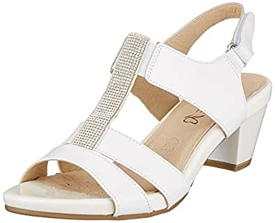 Caprice Sandales chaussures pour femmes 9-28661 cuir léger doré - or, 36 EU