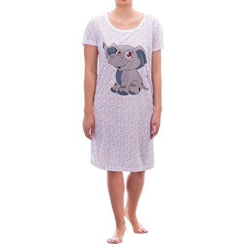Romesa big t-shirt avec imprimé bulles et schlafshirt bébé éléphant Blanc - blanc
