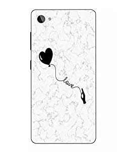 Snazzy Love Printed White Hard Back Cover For Lenovo Z2 Plus