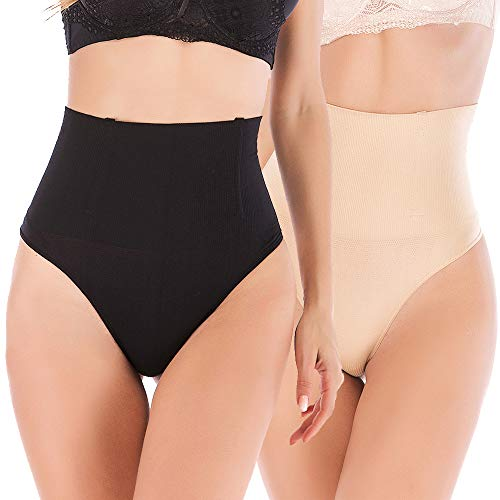 DODOING Damen Nahtlose Hohe Taille Cincher Body Shaper Bauch Abnehmen Sexy Tanga Höschen Shapewear Butt Lifter Taille Trainer Unterwäsche