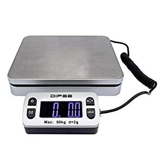 Dipse Parcel Mini Parcel Scales with External Display and Great Load capacity 50kg x 0,002kg