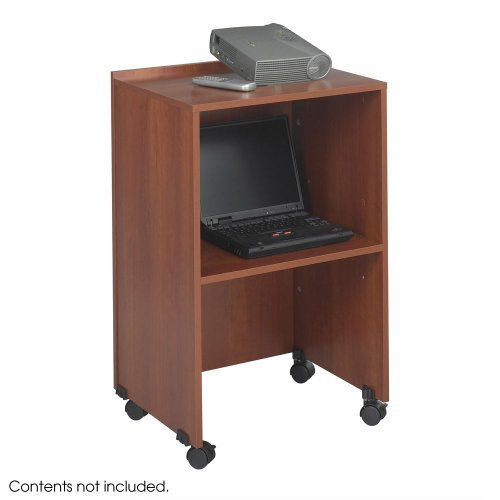 Safco Products Lectern Base/Media Cart, Cherry, 8917CY by Safco -