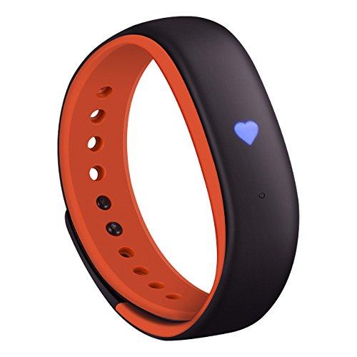 Mpow Pulsera Actividad, Fitness Tracker, Monitor de Actividad, Impermeable IP67 con Rastreador de Frecuencia Cardíaca, Pasos / Podómetro, Recordatorio Inteligente, Sueño, Alarmas Silenciosas, App Compatible con Seguimiento de Ruta GPS, Diseño de una Pieza