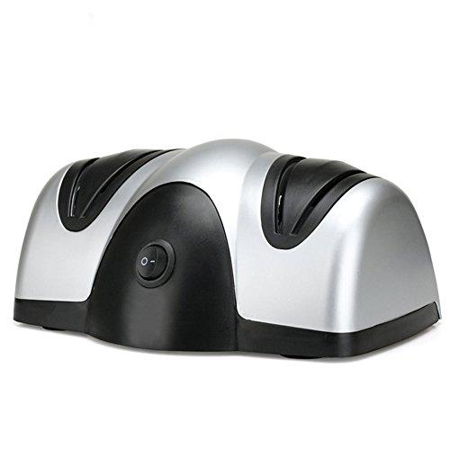 Elektrischer Messerschärfer, 2Stage Diamant beschichtete Schärfen Klingen, zu schärfen Küche, Chef, Schälmesser, Pocket und Stahl Messer, besser als Schärfen Stein, - Global Set Chef Messer