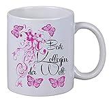 Netspares 119127356 Kaffee Tasse Beste Kollegin Floral Geburtstag Geschenk Überraschung Butterfly, Weiß