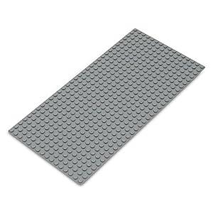 Katara- Placa de Construcción Rectangular 12,7x25,5cm Base Compatible con Lego Classic, Sluban, Papimax, Q-Bricks, Color Gris Claro, 16x32 (1672)