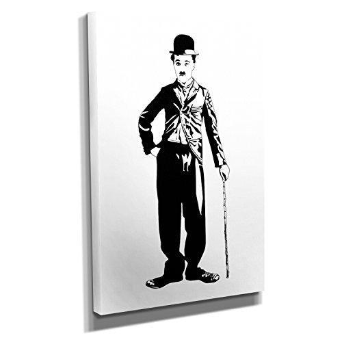 Kostüm Hut Diktator - Nerdinger Standing Chaplin - Kunstdruck auf Leinwand (40x60 cm) zum Verschönern Ihrer Wohnung. Verschiedene Formate auf Echtholzrahmen. Höchste Qualität.
