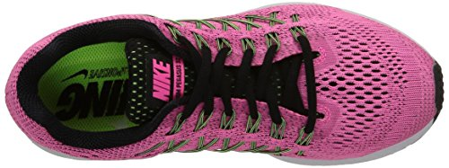 Nike Air Zoom Pegasus 32, Running Femme Rose (Pink Pow/Black/Barley Volt/Ghost Green)
