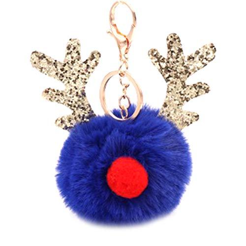 Cupcinu Llavero pompón astas Navidad Decoracion Bolso