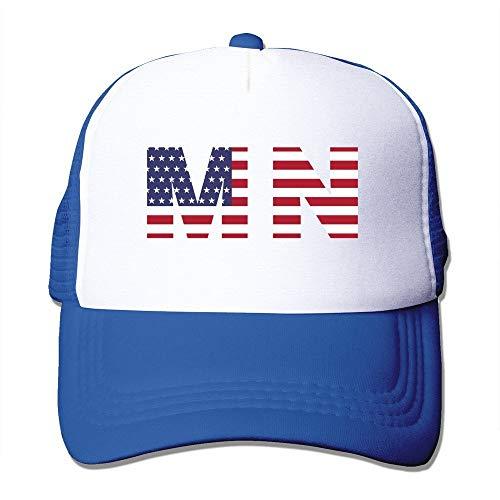 Cap Hat Mn State of Minnesota Flag Trucker Baseball Mesh Cap Adjustable Fashion Hats Royalblue -