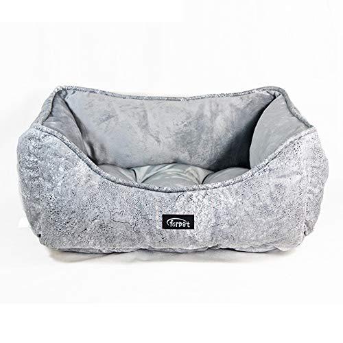Tiners letto per animali da compagnia modello deluxe ortopedico in cotone e cachemire materasso per divano letto rotondo e sfoderabile e lavabile antiscivolo tappetino casa per cani e gatti