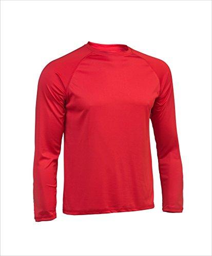 Asioka 300/14 Camiseta Deportiva de Manga Larga, Unisex Adulto, Rojo, L
