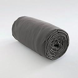 LES ATELIERS DU LINGE Lot De 2 Draps Housse Uni Coton UNI COTON Gris Coton 200x80cm