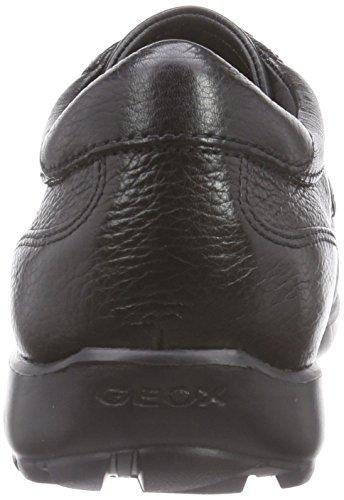 Geox U Mantra D, Scarpe Stringate Basse Derby Uomo Schwarz (C9999BLACK)