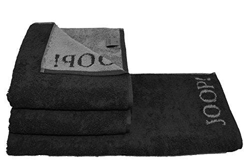 duschtuch joop Joop! 2 x Duschtuch Gr. 80x150cm + 2X Handtuch Gr. 50x100 Fb. 97 schwarz Serie 1600 + GRATIS 1x rustikales Steakbesteck Julia