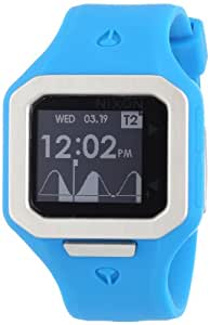 Nixon Herren-Armbanduhr The Supertide Sky Blue Digital Quarz Silikon A316917-00