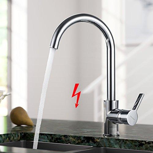 BONADE Niederdruck Küchenarmatur Einhebel Spültischarmatur 360° Schwenkbar Küche Armatur Wasserhahn Mischbatterie für Küche Spüle